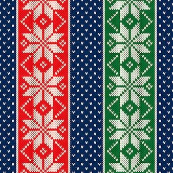 눈송이와 겨울 휴가 원활한 니트 패턴