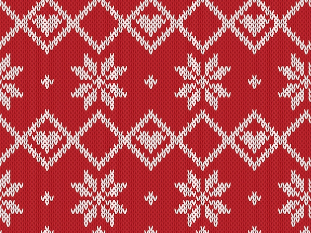 Winter holiday seamless knitted pattern.