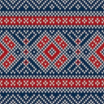 冬休みシームレスニットパターン