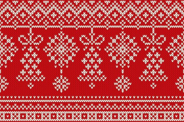 Зимний праздник бесшовные вязание узор. рождество и новый год бесшовный фон