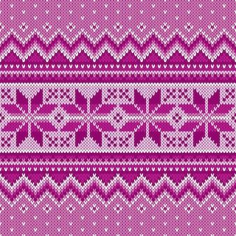 Зимний праздник бесшовные вязание узор. вязаный свитер fair isle. рождественский фон