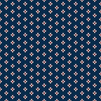 Зимний праздник бесшовные вязание узор. имитация шерсти вязаная текстура