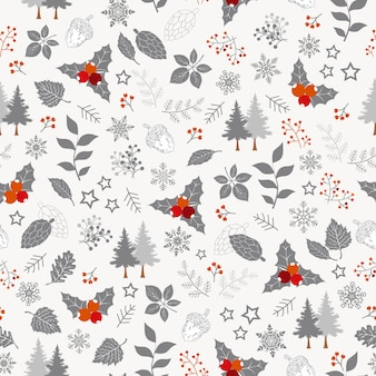 Winter holiday seamless pattern,christmas