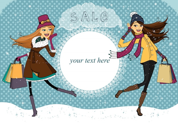 Winter holiday shopping promo