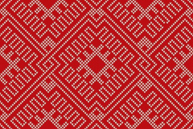 Зимний праздник дизайн свитера на шерстяной трикотажной фактуре. бесшовный образец