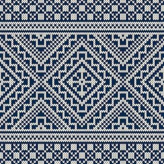 겨울 휴가 스웨터 디자인. 원활한 니트 패턴