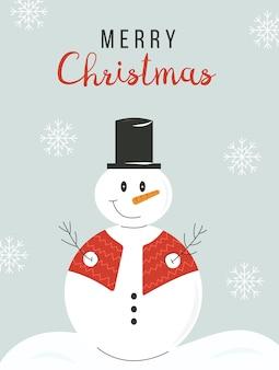 Winter holidays or christmas greeting card