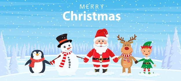 Поздравительная открытка зимних праздников