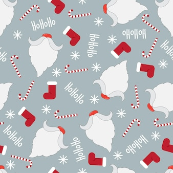 冬の休日パターンシームレスなベクトルの背景