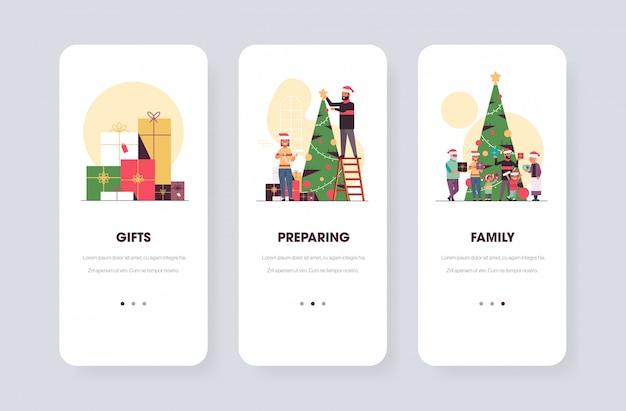 Winter holidays preparation app template set