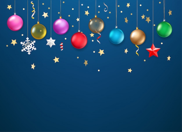 Winter holidays web decoration  template
