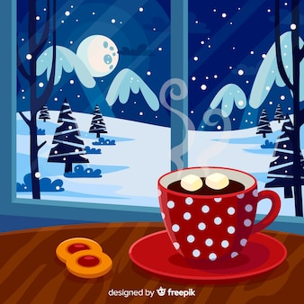 Winter home background