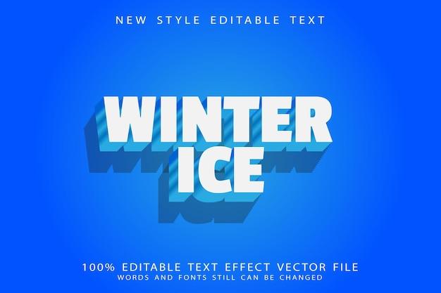 Winter ice editable text effect emboss cartoon style