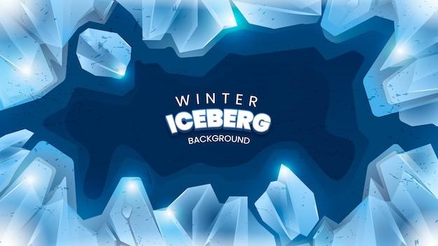 Зимний фон айсберга