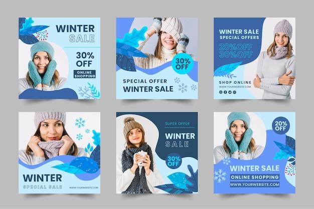 Raccolta di storie di instagram invernali