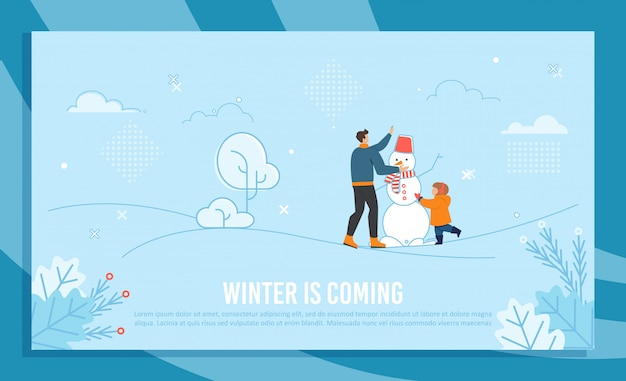 Winter is coming illustration