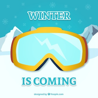 Winter is coming with goggles