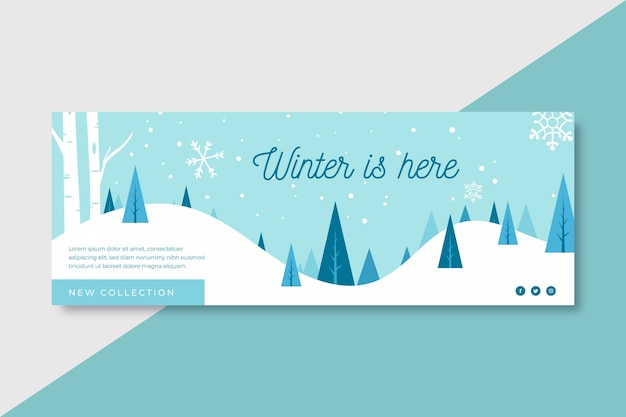 Winter is here facebook cover template
