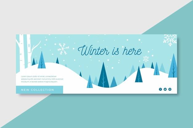 冬はここにありますfacebook表紙のテンプレート
