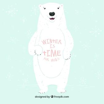 겨울은 포옹을위한 시간입니다