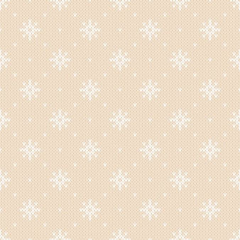Winter knitted pattern with snowflakes. fair isle knitting sweater design. seamless christmas and new year background