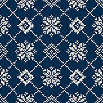 Winter knitted sweater design. seamless fair isle knitting pattern