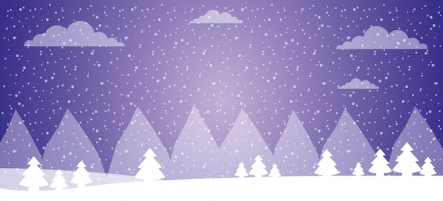 Зимний лесной ландшафт