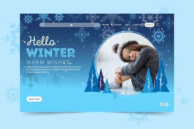 Pagina di destinazione invernale