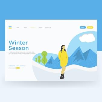 Winter landing page
