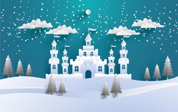 冬の風景の背景のデザイン