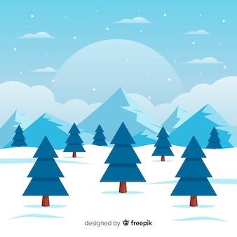 겨울 풍경 배경