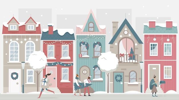 Зимний пейзаж иллюстрация