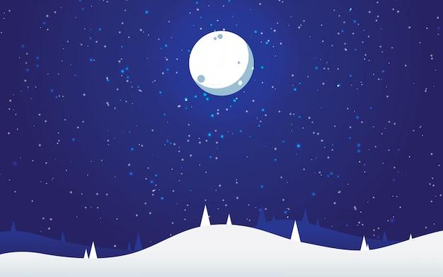 빛 별과 겨울 풍경
