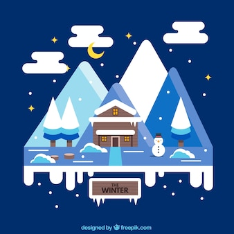 The winter landscape