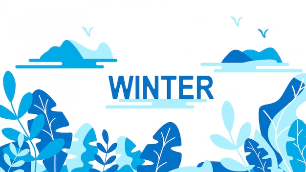 Winter leaves background