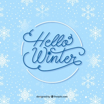 Winter lettering background
