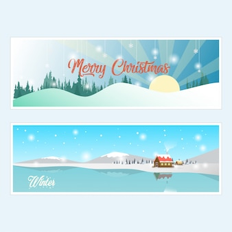 Winter and merry christmas