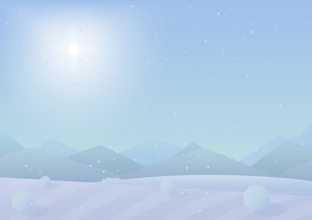 Winter mountains landscape