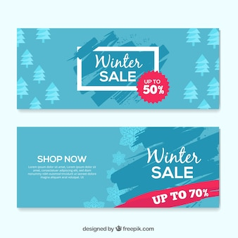 Winter offer banners
