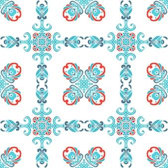 冬の装飾的な背景デザイン。クリスマスギフト包装。抽象的な幾何学模様