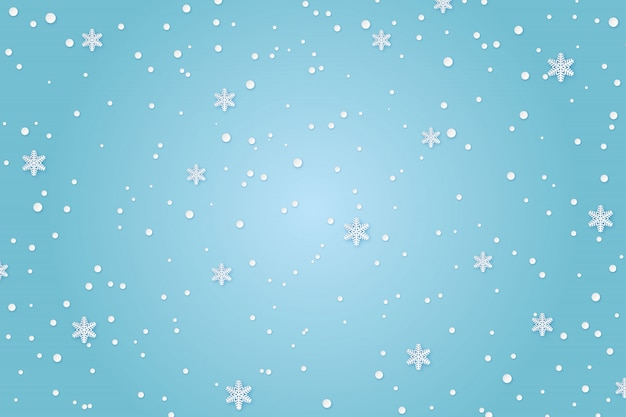 Winter paper background
