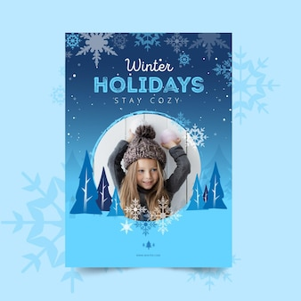 Modello di poster invernale