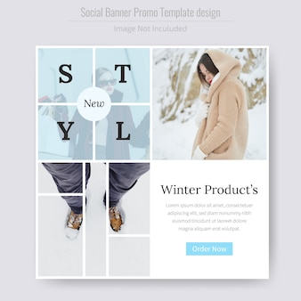 Winter product sale social media banner