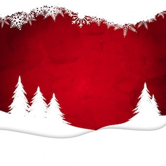 Winter, red background