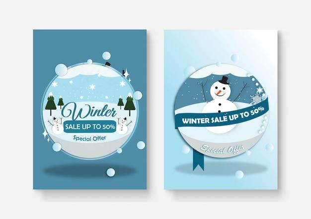 Winter sale 2022 cover design background