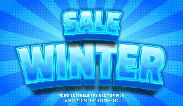 Winter sale 3d editable text style effect