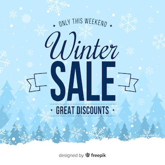 Winter sale ackground