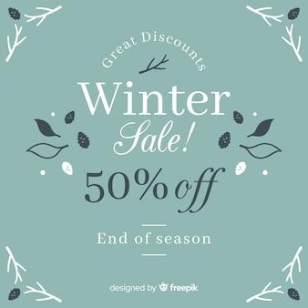 Winter sale ackground