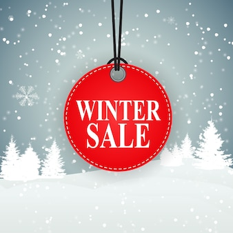 Winter sale background special offer banner