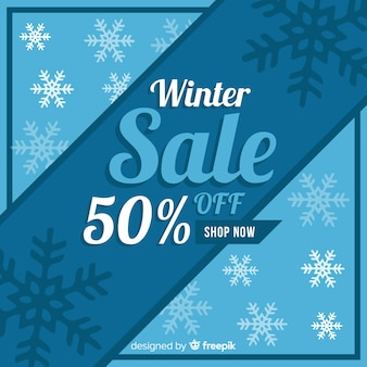Winter sale background
